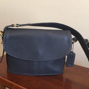 Navy Vintage Coach Bag EUC